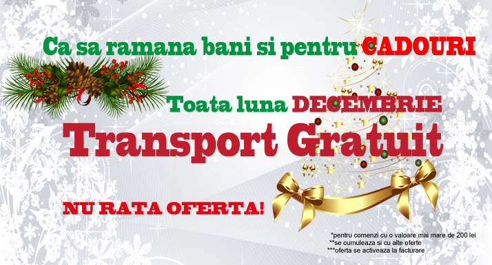 Transport Gratuit Decembrie